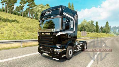 Скин Scania Trucking на тягач Scania для Euro Truck Simulator 2