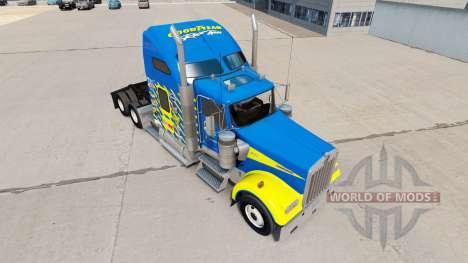 Скин Goodyear Racing на тягач Kenworth W900 для American Truck Simulator