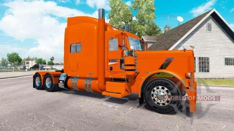 Скин YRC Freight на тягач Peterbilt 389 для American Truck Simulator