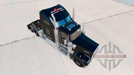 Скин Stevens Transport на тягач Kenworth W900 для American Truck Simulator