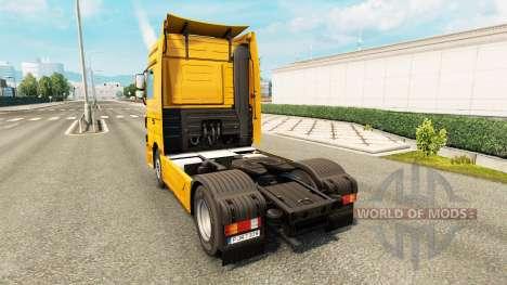 Скин Trans Europe на тягач Mercedes-Benz для Euro Truck Simulator 2