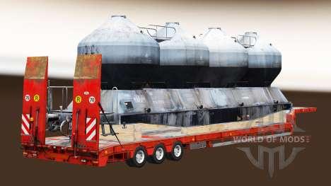 Полуприцепы с железнодорными составами v1.4 для Euro Truck Simulator 2