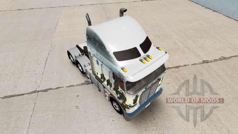 Скин Band Of Brothers на тягач Kenworth K200 для American Truck Simulator