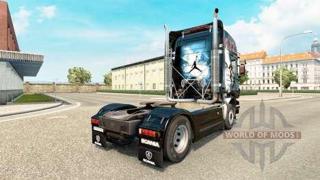 Скин MJBulls на тягач Scania для Euro Truck Simulator 2