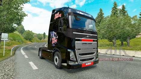 Скин Iron Maiden на тягач Volvo для Euro Truck Simulator 2