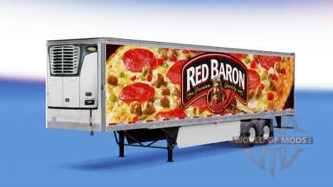 Скин Red Baron на рефрижераторный полуприцеп для American Truck Simulator