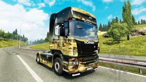 Скин Space Scene на тягач Scania для Euro Truck Simulator 2