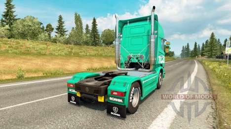 Скин Toll на тягач Scania для Euro Truck Simulator 2