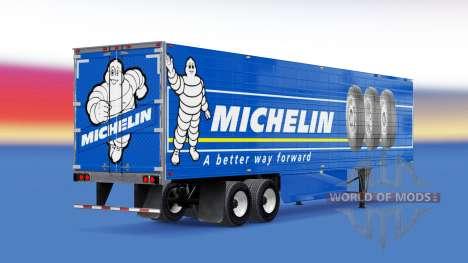Скин Michelin на рефрижераторный полуприцеп для American Truck Simulator