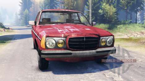 Mercedes-Benz 123d v2.0 для Spin Tires
