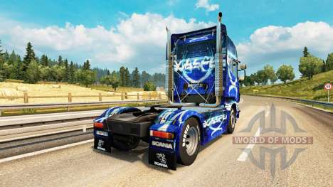 Скин Dub Step на тягач Scania для Euro Truck Simulator 2