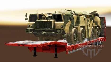 Полуприцепы с военной техникой v1.4.1 для Euro Truck Simulator 2