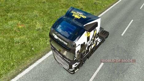 Скин Infamous Second Son на тягач Volvo для Euro Truck Simulator 2