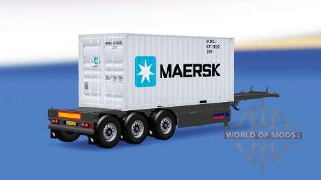 Полуприцеп с 20-ти фунтовым контейнером v2.0 для American Truck Simulator