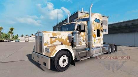 Скин Marines Combat Engineers на тягач Kenworth для American Truck Simulator