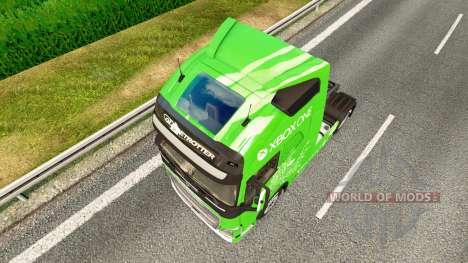 Скин Xbox One на тягач Volvo для Euro Truck Simulator 2