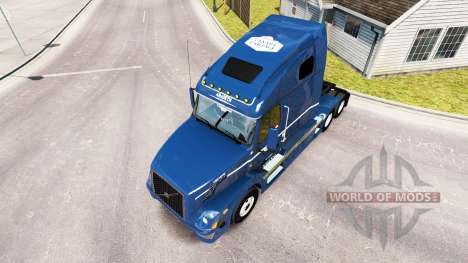Скин Canada Cartage на тягач Volvo VNL 670 для American Truck Simulator