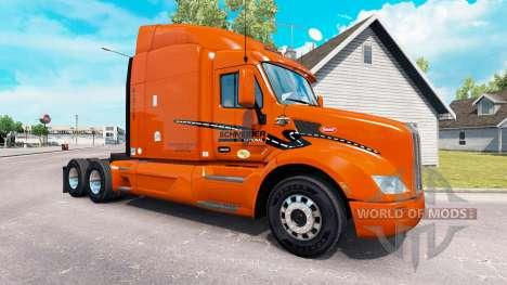 Скин Schneider National  на тягач Peterbilt для American Truck Simulator