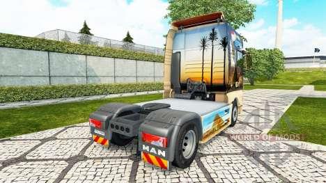 Скин Egypt на тягач MAN для Euro Truck Simulator 2