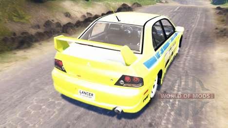 Mitsubishi Lancer Evolution IX [Форсаж 2] для Spin Tires