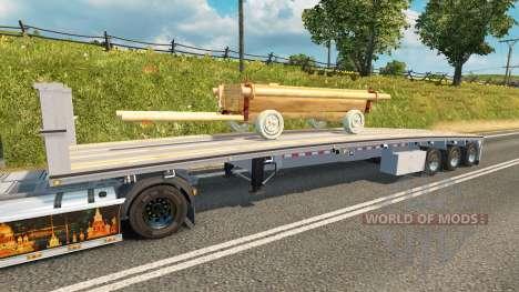 Полуприцеп-площадки с повозкой для Euro Truck Simulator 2