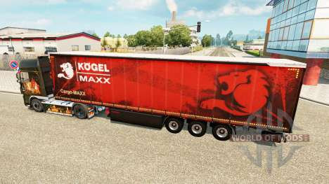 Шторный полуприцеп Kogel maxx для Euro Truck Simulator 2