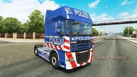 Скин Police на тягач DAF для Euro Truck Simulator 2