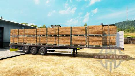 Полуприцеп-платформа Wielton для Euro Truck Simulator 2