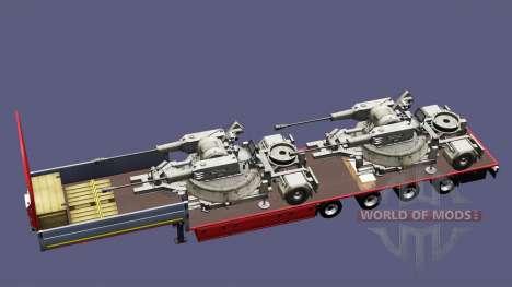 Полуприцепы с военной техникой v1.4 для Euro Truck Simulator 2