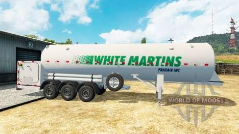 Полуприцеп-цистерна White Martins для Euro Truck Simulator 2