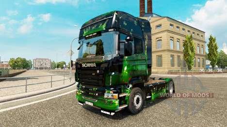 Скин ArtWorks на тягач Scania для Euro Truck Simulator 2