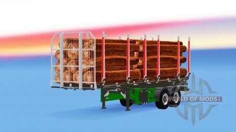 Малый полуприцеп-лесовоз для American Truck Simulator