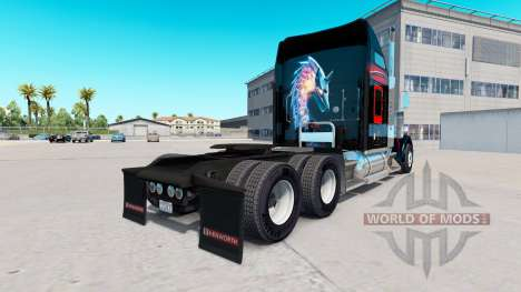 Скин Bitdefender на тягач Kenworth W900 для American Truck Simulator