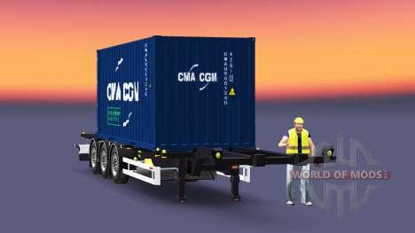 Полуприцеп-контейнеровоз Sommer для Euro Truck Simulator 2
