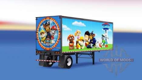 Скин Paw Patrol на полуприцеп для American Truck Simulator