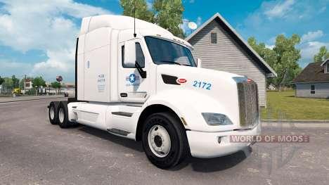 Скин USA Truck на тягач Peterbilt для American Truck Simulator