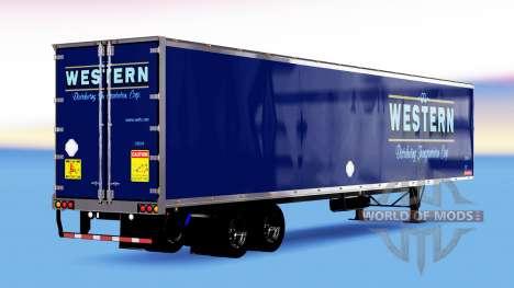 Цельнометаллический полуприцеп Western для American Truck Simulator