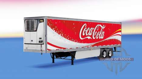 Скин Coca-Cola на рефрижераторный полуприцеп для American Truck Simulator