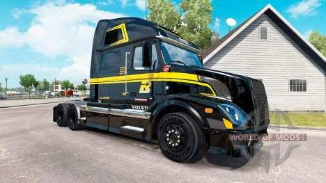 Скин Groupe Robert на тягач Volvo VNL 670 для American Truck Simulator
