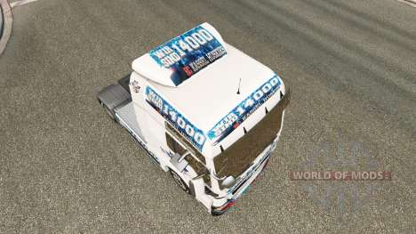 Скин EC Kassel Huskies на тягач MAN для Euro Truck Simulator 2