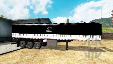 Бортовой тентованный полуприцеп для Euro Truck Simulator 2