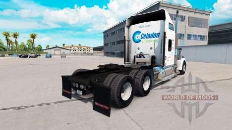 Скин Celadon Logistics на тягач Kenworth W900 для American Truck Simulator