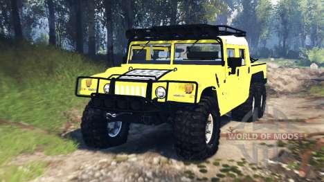Hummer H1 6x6 Raptor v3.0 для Spin Tires