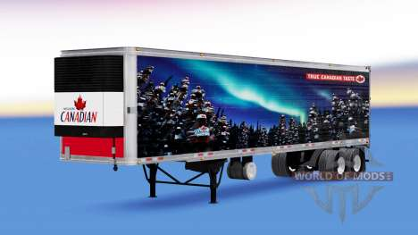 Скин Molson Canadian на полуприцеп для American Truck Simulator