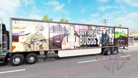 Скин Bay Area Buggs на полуприцеп для American Truck Simulator