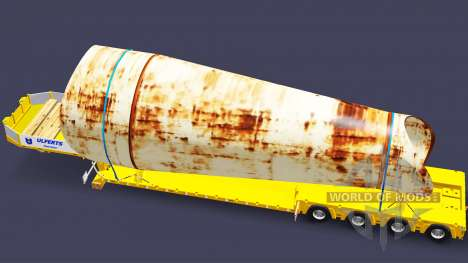 Низкорамный трал Doll с грузом для Euro Truck Simulator 2