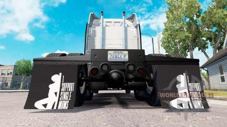 Брызговики I Support Single Moms v1.1 для American Truck Simulator