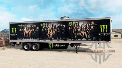 Скин Monster Energy на полуприцеп для American Truck Simulator