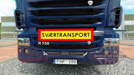 Svaertransport для Euro Truck Simulator 2