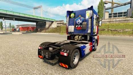 Скин France Copa 2014 на тягач Renault для Euro Truck Simulator 2